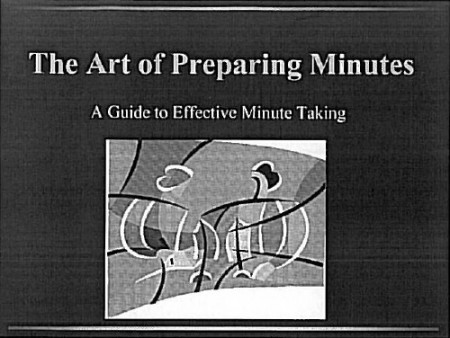 Minutes_Cover Page_Clerk_Training