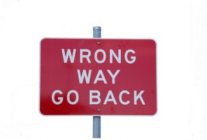WRONG WAY_GO BACK